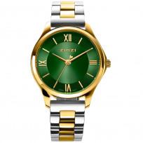 Zinzi ZIW1235 Horloge Classy Mini + gratis armband goudkleurig-groen 30 mm 1