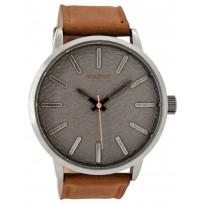 OOZOO C9025 Horloge Timepieces staal/leder cognac 48 mm  1