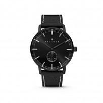 Kaliber 7KW-00006 Horloge met lederen band Zwart 40 mm 1