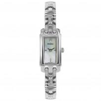 Prisma Dameshorloge zilverkleurig, Saffierglas, Zwitsers uurwerk P.1760 1