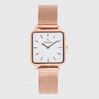 KRAEK Ilene | Rose Gold | Mesh  Dameshorloge 1