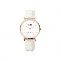 CO88 Collection Watches 8CW 10081 Horloge - Leren Band - Ø 32 mm - Rosékleurig 1