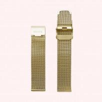 KRAEK Gold Mesh   18 mm 18 mm horlogebandje 1