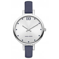 Danish Design Dameshorloge blauwe lederen band IV22Q1141 1
