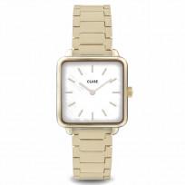 CLUSE CW0101207025 Horloge La Tetragone staal goudkleurig 26 mm 1