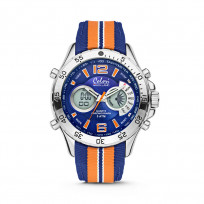 Colori Horloge Holland Sports staal/nylon oranje-blauw 48 mm 5-CLD133  1