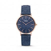 Colori Horloge Denim staal/denim donkerblauw 36 mm 5-COL415 1