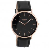 OOZOO Horloge Vintage rosékleurig-zwart 40 mm C9318 1