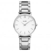 CLUSE CW0101203026 Horloge Minuit 3-Link White Silver 33 mm 1