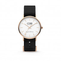 CO88 Horloge staal/nylon 36 mm rosé/zwart 8CW-10022 1