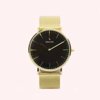 KRAEK Loa | Gold | Mesh 36 mm Dameshorloge 1