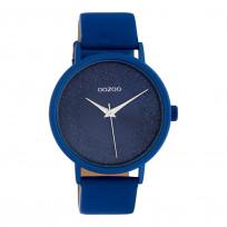 OOZOO C10583 Horloge Timepieces aluminium/leder classic blue 42 mm 1