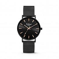 Colori Horloge XOXO staal mesh zwart 36 mm 5-COL449  1