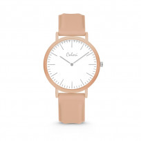 Colori Essentials 5 COL584 Horloge - Siliconen Band - Ø 40 mm - Beige  1