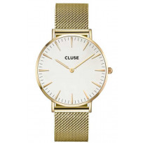 CLUSE CW0101201009 LA Boheme Mesh Goldplated White horloge 1