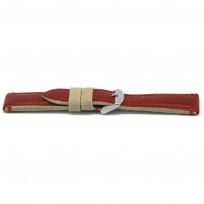 Horlogeband H728 Catalonia Rood 22x20mm 1