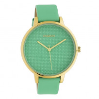 OOZOO C10593 Horloge Timepieces staal/leder biscay green 42 mm 1