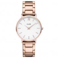 CLUSE CW0101203027 Horloge Minuit 3-Link White Rosegold 33 mm 1