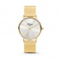 Colori Horloge XOXO staal mesh goudkleurig 36 mm 5-COL445  1