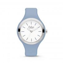 Colori Horloge Macaron staal/siliconen lichtblauw 44 mm  5-COL508 1