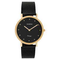 OOZOO C20059 Horloge Vintage Mesh black-rose 34 mm 1