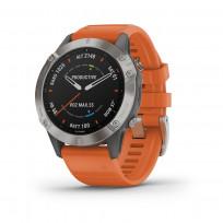 Garmin 010-02158-14 Fenix 6 Multisport GPS Smartwatch, Pulse Ox, Titanium en saffierglas 1