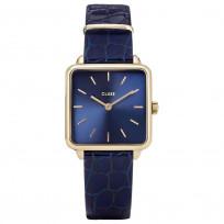 CLUSE CW0101207028 Horloge La Tetragone Gold Blue Alligator  1