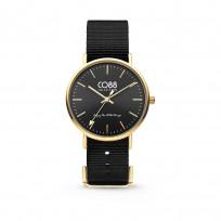 CO88 8CW-10019 Horloge staal/nylon 36 mm goud/zwart  1