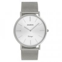 OOZOO C9905 Horloge Vintage Mesh zilverkleurig 40 mm 1