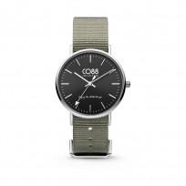 CO88 Horloge staal/nylon 36 mm rosé/grijsgroen 8CW-10018 1