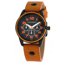 Coolwatch kinderhorloge 'Jack Oranje' staal-leder CW.250 1