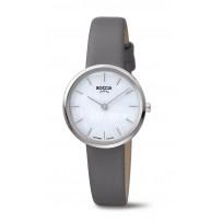 Boccia 3279-07 Horloge Titanium-Leder saffierglas grijs-wit 30 mm 1