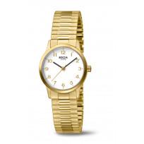 Boccia 3318-02 Horloge Rekband Titanium goudkleurig 26 mm 1