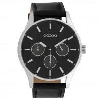 OOZOO C10049 Horloge Timepieces Collection staal zilverkleurig-zwart 48 mm 1