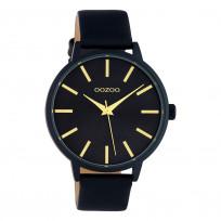OOZOO C10619 Horloge Timepieces aluminium/leder zwart 42 mm 1