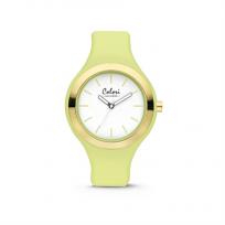 Colori Horloge Macaron staal/siliconen rosékleurig/lichtgroen 44 mm 5-COL434 1