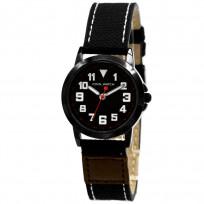 Coolwatch kinderhorloge 'Jort' canvas-staal bruin-zwart CW.245 1