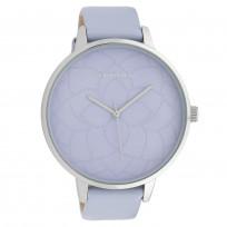 OOZOO C10103 Horloge Timepieces Collection staal/leder zilverkleurig-pastel-lila 48 mm 1