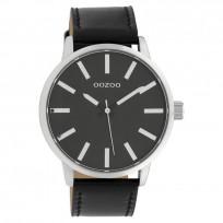 OOZOO C10034 Horloge Timepieces Collection staal zilverkleurig-zwart 48 mm 1