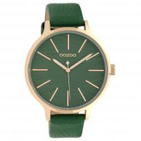 OOZOO C10123 Horloge Timepieces Collection staal/leder rosekleurig-green 45 mm 1
