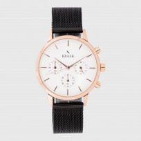 KRAEK Jules | Rose Gold | Mesh  Dameshorloge 1