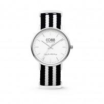 CO88 Horloge staal/nylon zilver/zwart/wit 36 mm 8CW-10035  1