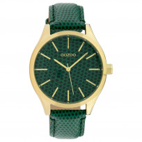 OOZOO C10432 Horloge Timepiece Collection Dark Green Snake 42 mm 1