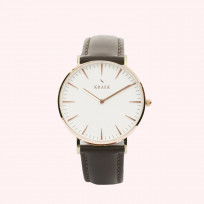 KRAEK Lark | Rose Gold | Brown  Dameshorloge 1