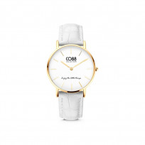 CO88 Collection Watches 8CW 10080 Horloge - Leren Band - Ø 32 mm - Goudkleurig 1