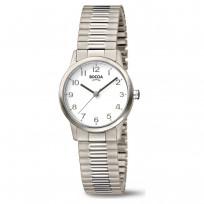 Boccia 3318-01 Horloge Titanium Rekband zilverkleurig 26 mm 1