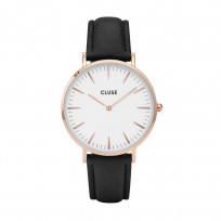 Cluse CW0101201020 La Bohéme Rose Gold White Black horloge 38 mm 1