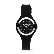 Colori Macaron Sparkle 5 COL540 Horloge - Siliconen Band - Ø 30 mm - Zwart / Zilverkleurig  1