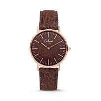 Colori Horloge Denim staal/denim bruin 36 mm 5-COL417  1