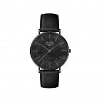 Frank 1967 7FW 0019 Horloge staal/leder zwart 42 mm 1